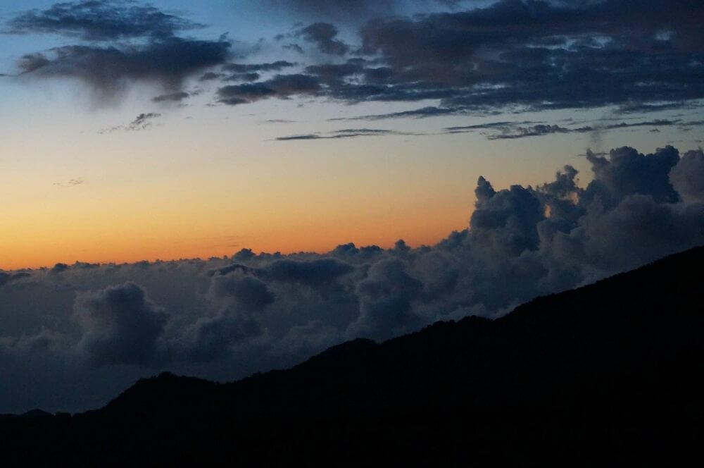屋久島登山道の雲海